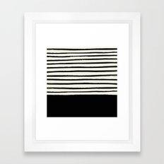Black x Stripes Framed Art Print