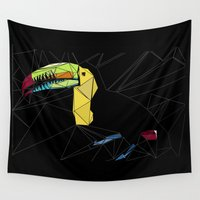 toucan Wall Tapestries featuring TOUCAN by ARCHIGRAF