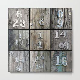 Hydro Pole Numbers Metal Print