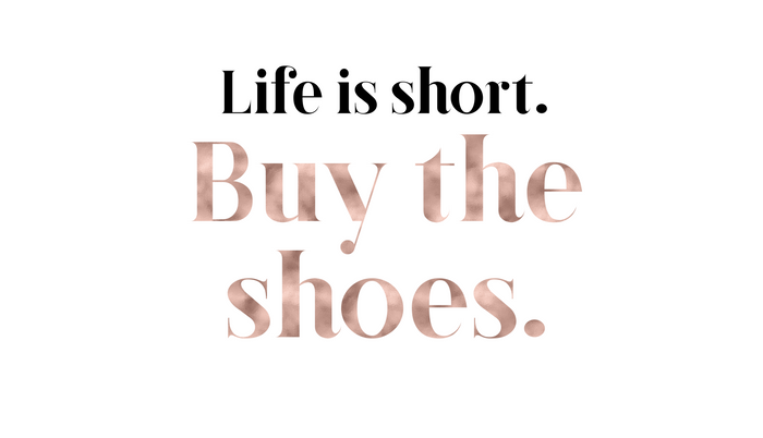 Rose gold beauty - life is short, buy the shoes Pillow Sham