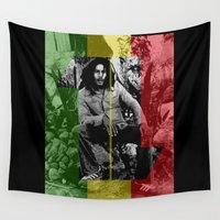 marley Wall Tapestries featuring One Love by Naked N Pieces