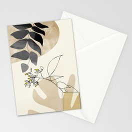 leaves minimal shapes abstract Stationery Cards