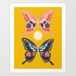 Butterflies Children's Poster Art Print
