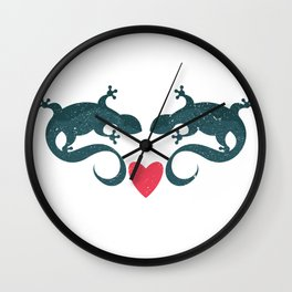 Gecko Love Wall Clock