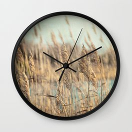Marsh Grasses Wall Clock