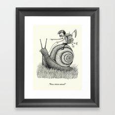 'Full Speed Ahead!' Framed Art Print