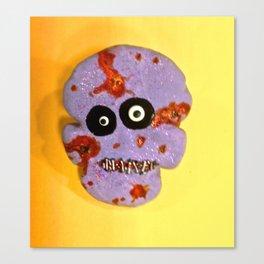 Zombie Skull Cookie Canvas Print