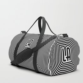 LA echo / Lined frame expanding from LA text Duffle Bag