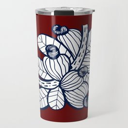 Navy Cashew Apple Travel Mug