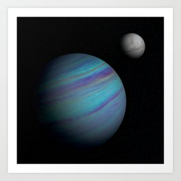 Kepler 421b, An Ice Giant Art Print