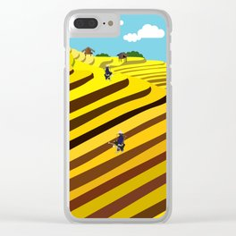 Vietnam rice terraces Clear iPhone Case