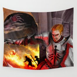 Dragon Age - Cullen - Tower in Flames Wall Tapestry