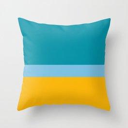 Retro colors minimal abstract - stripes Throw Pillow