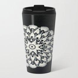 beige black lace Travel Mug