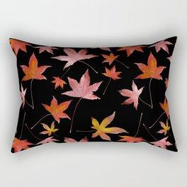 Dead Leaves over Black Rectangular Pillow