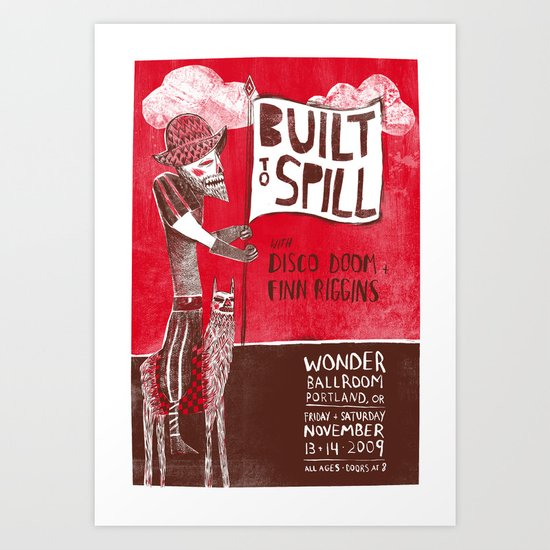 Built to Spill - Wonder Ballroom, Portland Art Print