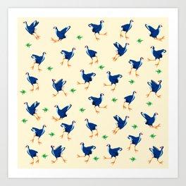 Pukeko swamp hen pattern Art Print