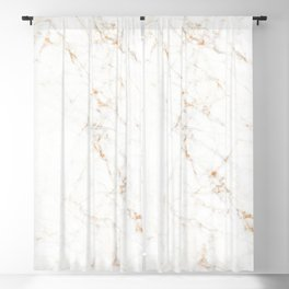 White Marble with Delicate Gold Veins Blackout Curtain