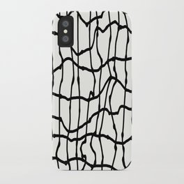 Melting Grid Pattern iPhone Case