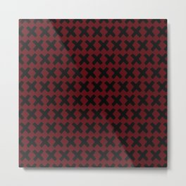 Red and black X Metal Print