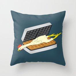 Rubber Chicken & Waffles Throw Pillow