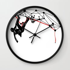 the Climber Wall Clock