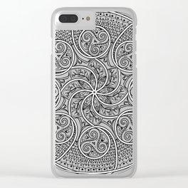 Celtic Swirl Mandala Clear iPhone Case