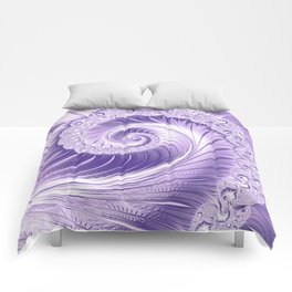 Ultra Violet Luxe Spiral Pattern | Trendy Color of the Year 2018 Comforters