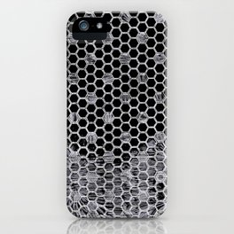 Tiles in black and white iPhone Case