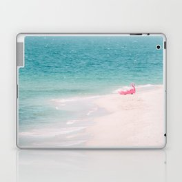 Pink Flamingo Beach Laptop & iPad Skin