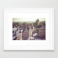 england Framed Art Prints featuring Oxford England by AlejandraClick