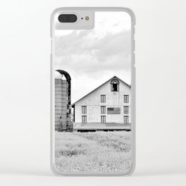 Barn and Silos BW Clear iPhone Case