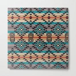 American Native Pattern No. 222 Metal Print