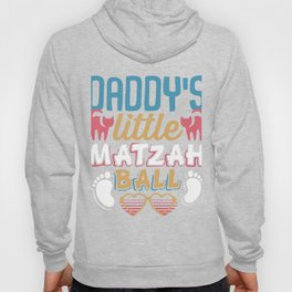 Daddy's Little Matzah Ball Cat Jewish Passover Hoody