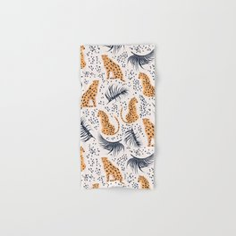 CHEETAHS & LEAVES Hand & Bath Towel