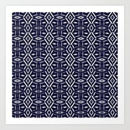 Meshed in Blue Art Print
