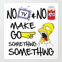 No Beer & No TV Art Print