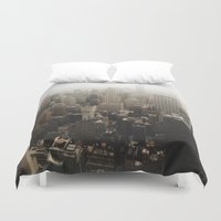 nyc Duvet Covers featuring NYC by Z.T.