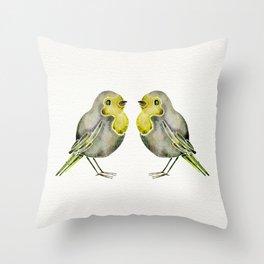 Little Yellow Birds Throw Pillow