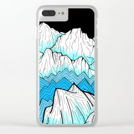 Antarctica mountains Clear iPhone Case