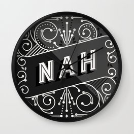 Nah – Black & Grey Palette Wall Clock