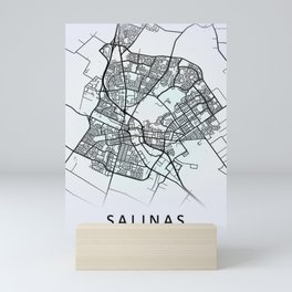 Salinas, CA, USA, White, City, Map Mini Art Print