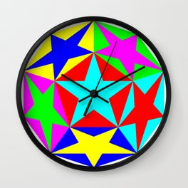 Half Dodecahedron Stars Wall Clock