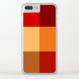 BLOCKS - RED TONES - 2 Clear iPhone Case