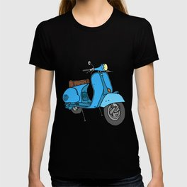 Blue motor scooter (vespa) T-shirt