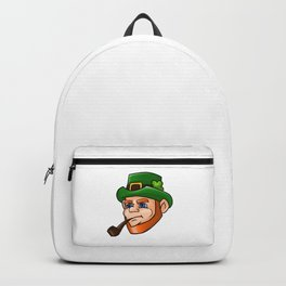 Leprechaun Face Smoking Pipe Backpack