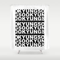 kpop Shower Curtains featuring KYUNGSOO by iiahfornow
