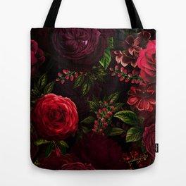 Mystical Night Roses Tote Bag