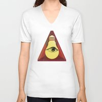 "illuminati V-neck T-shirts featuring ""Illuminati"" bulb by Oh! My darlink"