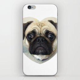 Pug Love iPhone Skin